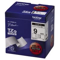 【ブラザー】 ピータッチ用TZeテープカセット 白に黒文字9ミリ幅 5本パック TZE-221V 入数:1 ★お得な10個パック★