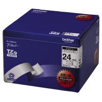 ブラザー TZE-251V10ピータッチ用TZeテープカセット 白に黒文字24ミリ幅 10本パック入数:1