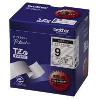 【ブラザー】 ピータッチ用TZeテープカセット 透明に黒文字9ミリ幅 5本パック TZE-121V 入数:1 ★お得な10個パック★