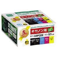 【エコリカ】 リサイクルインク キヤノン対応 BCI-321(4色)+320PGBKECI-C3203215P/B 入数:1 ★お得な10個パック, シュラメック化粧品公式ショップ:640f0e89 --- hatsumeikids.jp