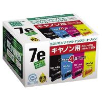 【エコリカ】 リサイクルインク キヤノン対応 BCI-7eBK/C/M/Y 4色パック ECI-CA07E4P/BOX 入数:1 ★お得な10個パック★