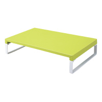 【リヒトラブ】 机上台(幅390mm)黄緑 材質:スチール 組立式(工具付き) A7330-6 入数:1 ★お得な10個パック★