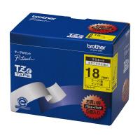 【ブラザー】 ピータッチ用TZeテープカセット 黄に黒文字 18ミリ幅 5本パック TZE-641V 入数:1 ★お得な10個パック★