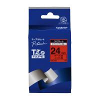 【ブラザー】 ピータッチ用TZeテープカセット 赤に黒文字 24ミリ幅 TZE-451 入数:1 ★お得な10個パック★