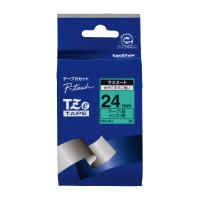 【ブラザー】 ピータッチ用TZeテープカセット 緑に黒文字 24ミリ幅 TZE-751 入数:1 ★お得な10個パック★