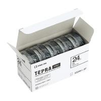 【キングジム】 テプラPROテープカートリッジ 5個入り 白に黒文字 24mm幅×8m SS24K-5P 入数:1 ★お得な10個パック★