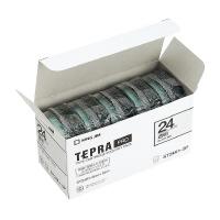 【キングジム】 テプラPROテープカートリッジ 5個入り 透明に黒文字 24mm幅×8m ST24K-5P 入数:1 ★お得な10個パック★