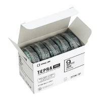 【キングジム】 テプラPROテープカートリッジ 5個入り 透明に黒文字 9mm幅×8m ST9K-5P 入数:1 ★お得な10個パック★