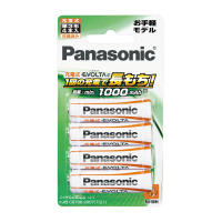 【Panasonic】 充電式EVOLTAe お手軽モデル 単3形×4本 BK-3LLB/4B 入数:1 ★お得な10個パック★