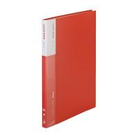 【iimo】 クリヤーブック A4縦 20ポケット 赤 10冊 EM-RA560RX10 入数:1 ★お得な10個パック★