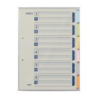 【iimo】 カラー仕切カード A4縦 6山 100組入 EM-SK110X10 入数:1 ★お得な10個パック★
