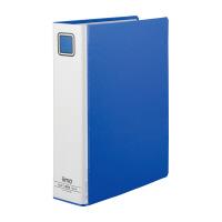 【iimo】 パイプ式ファイル エコノミー両開きA4縦 青 10冊 EM-FURT660BX10 入数:1 ★お得な10個パック★