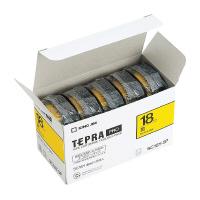 【キングジム】 テプラPROテープカートリッジエコパック 5個入り 黄に黒文字 18mm幅×8m SC18Y-5P 入数:1 ★お得な10個パック★