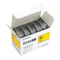 【キングジム】 テプラPROテープカートリッジエコパック 5個入り 黄に黒文字 6mm幅×8m SC6Y-5P 入数:1 ★お得な10個パック★