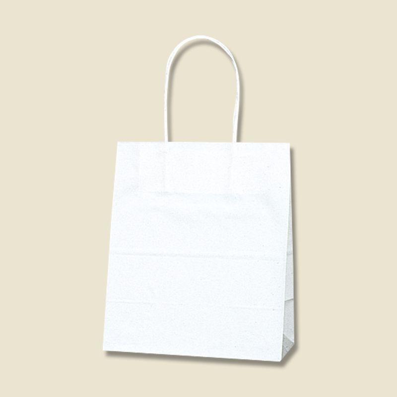 ショッピング 袋 お土産 マチあり 持ち手付き ホワイト 紙袋 シモジマ 25チャームバック 晒白無地 安心と信頼 お見舞い 21-12 手提げ紙袋 50枚