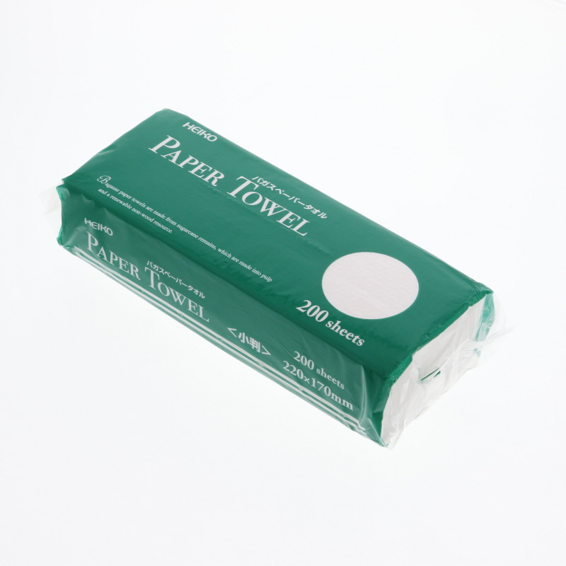 トイレ バス洗剤 関連商品 バガスペーパータオル 新登場 シングル メーカー公式ショップ HEIKO 1パック 小判