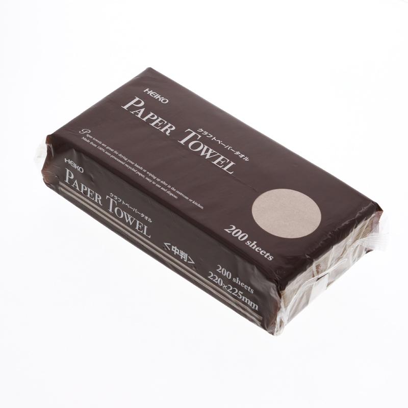 ペーパータオル 中判 クラフト オリジナル トイレにオススメ 期間限定で特別価格 クラフトペーパータオル 1パック HEIKO シングル