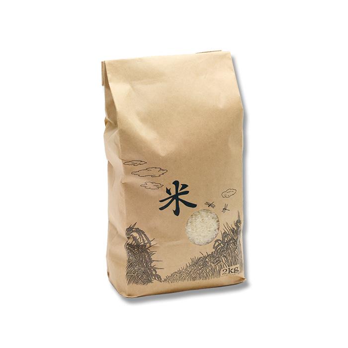 米袋 1Kg 米テープ 窓付 200枚