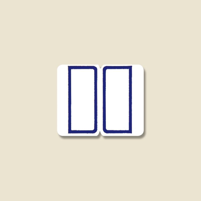 HEIKO タックラベル ◆在庫限り◆ シール No.055 送料無料でお届けします 紺 インデックスラベル 23x28mm 240片