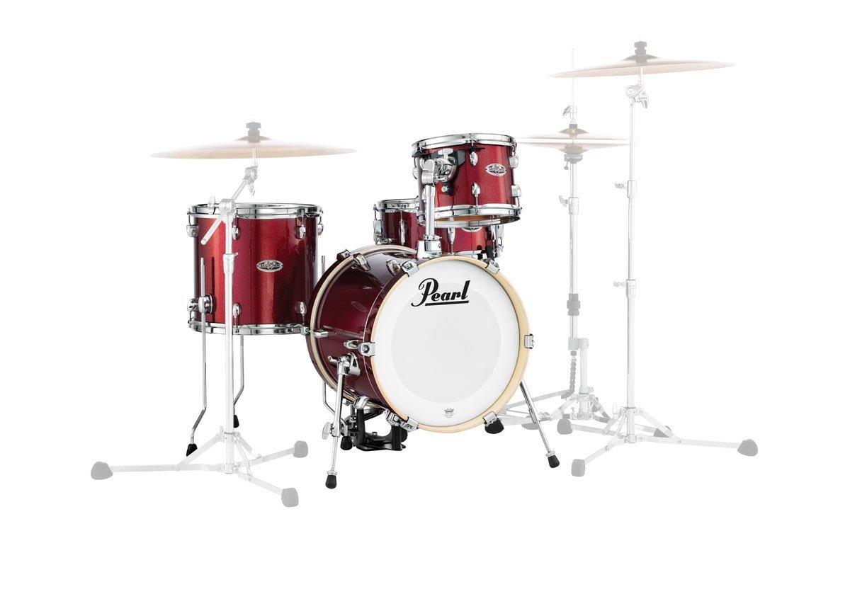 【カードor銀行振込で送料無料】Pearl MDT764P/C(ドラムシェルパック)シンバル・ハードウエア無しセット♯704:ブラック・チェリー・グリッター