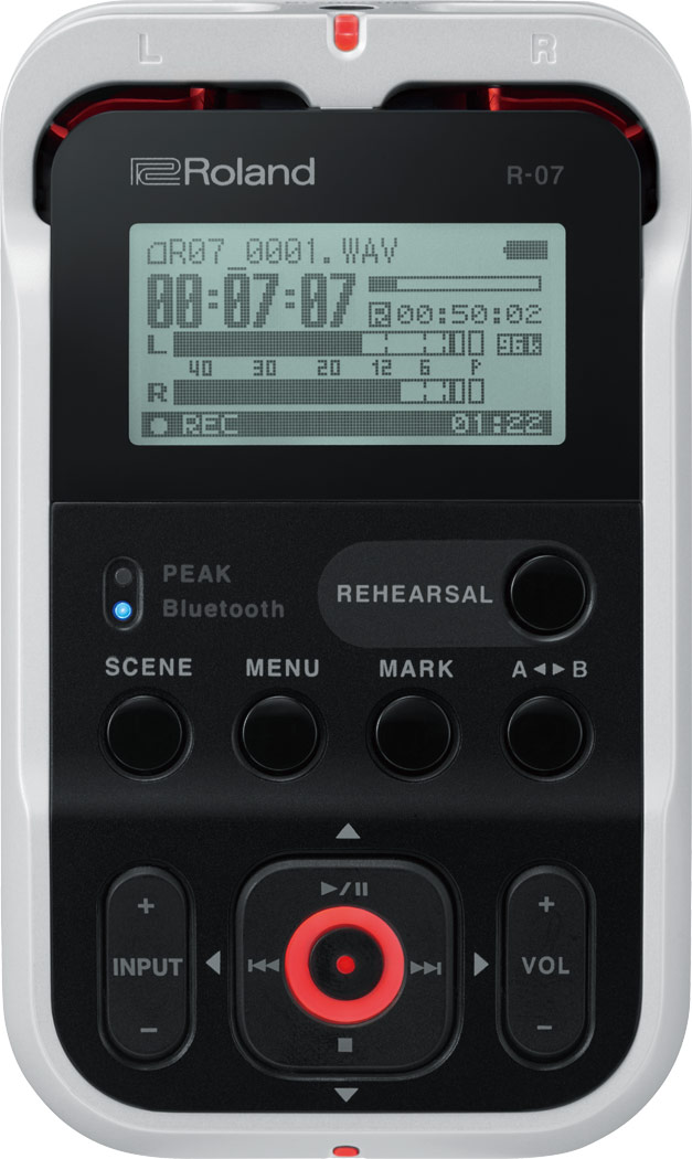 Roland R-07-WH High Resolution Audio Recorder