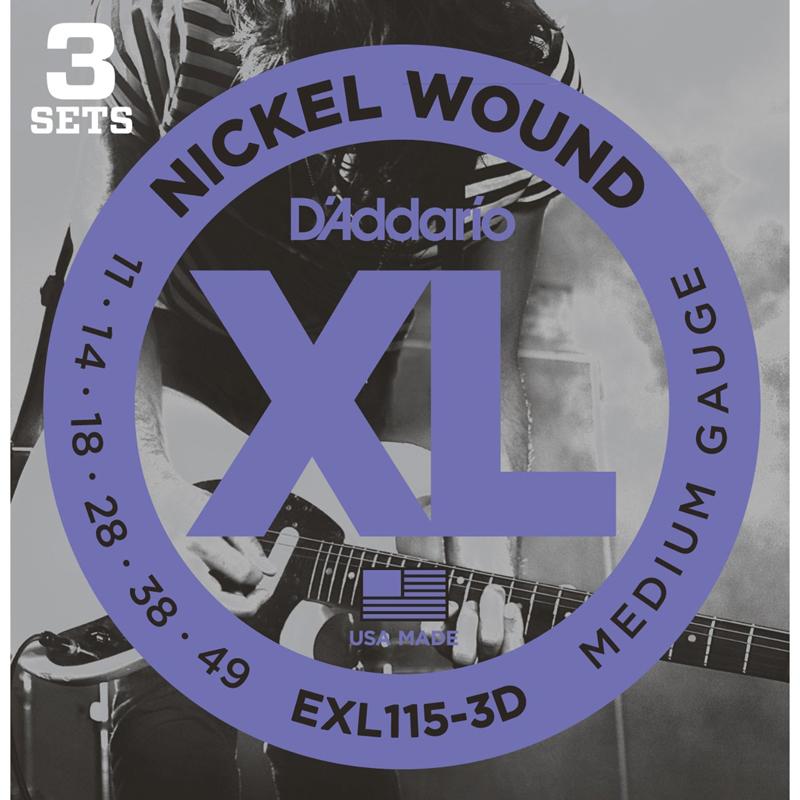 ダダリオ エレキ弦 お得な3セットパック D'Addario 3SET EXL115-3D 新着 店 PACK エレキギター弦