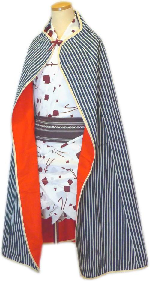 道中合羽1赤(袷)【踊り用小道具】【送料無料】日本舞踊・舞台・ステージ・カラオケ・股旅衣装