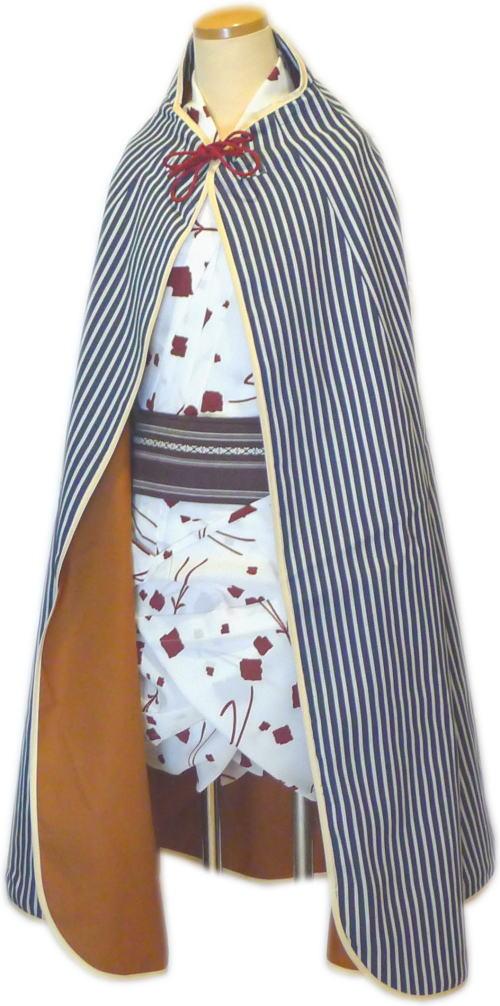道中合羽3茶(袷)【踊り用小道具】【送料無料】日本舞踊・舞台・ステージ・カラオケ・股旅衣装