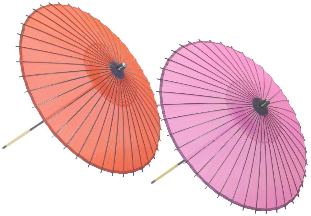 高級絹傘18 桃・赤 国産 装飾・文化祭・大道芸・コスプレの小道具としても最適!【舞台・舞傘・撮影・小道具】