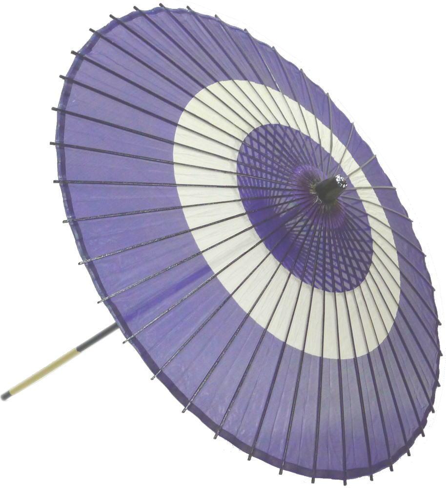 高級絹傘18 助六紫 国産 装飾・文化祭・大道芸・コスプレの小道具としても最適!【舞台・舞傘・撮影・小道具】
