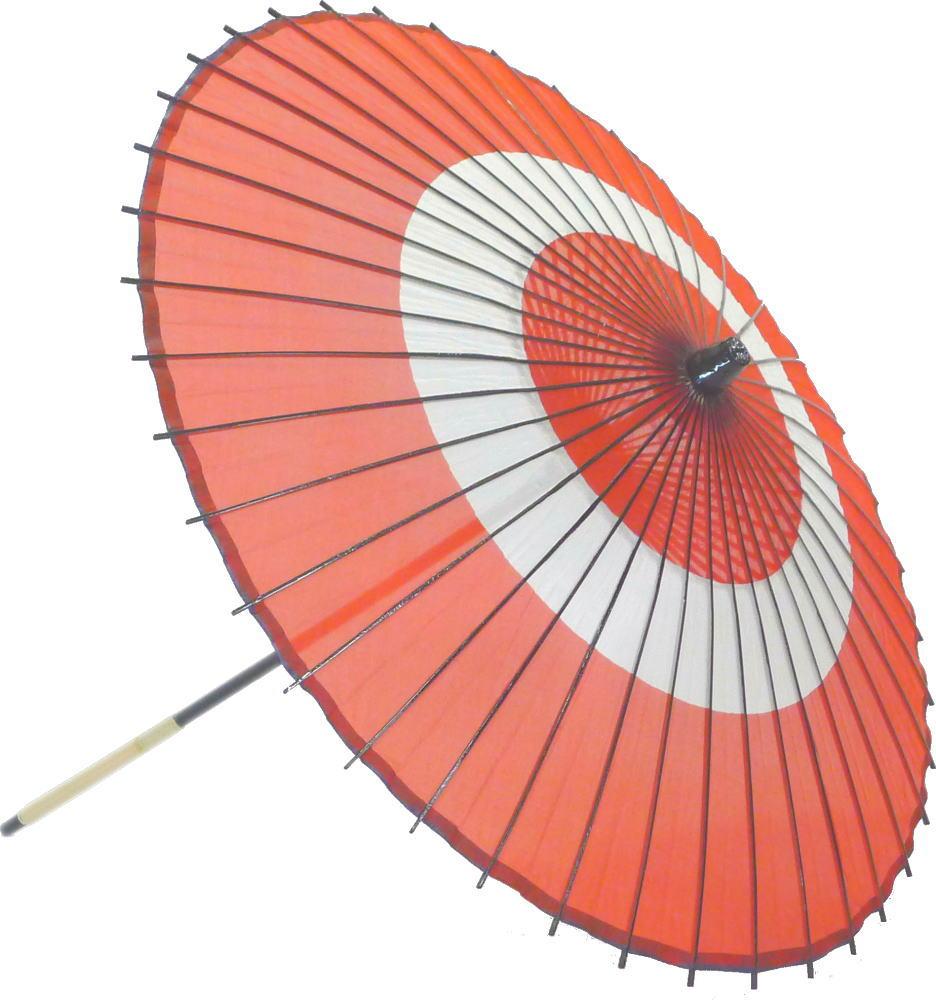 高級絹傘18 助六赤 国産 装飾・文化祭・大道芸・コスプレの小道具としても最適!【舞台・舞傘・撮影・小道具】