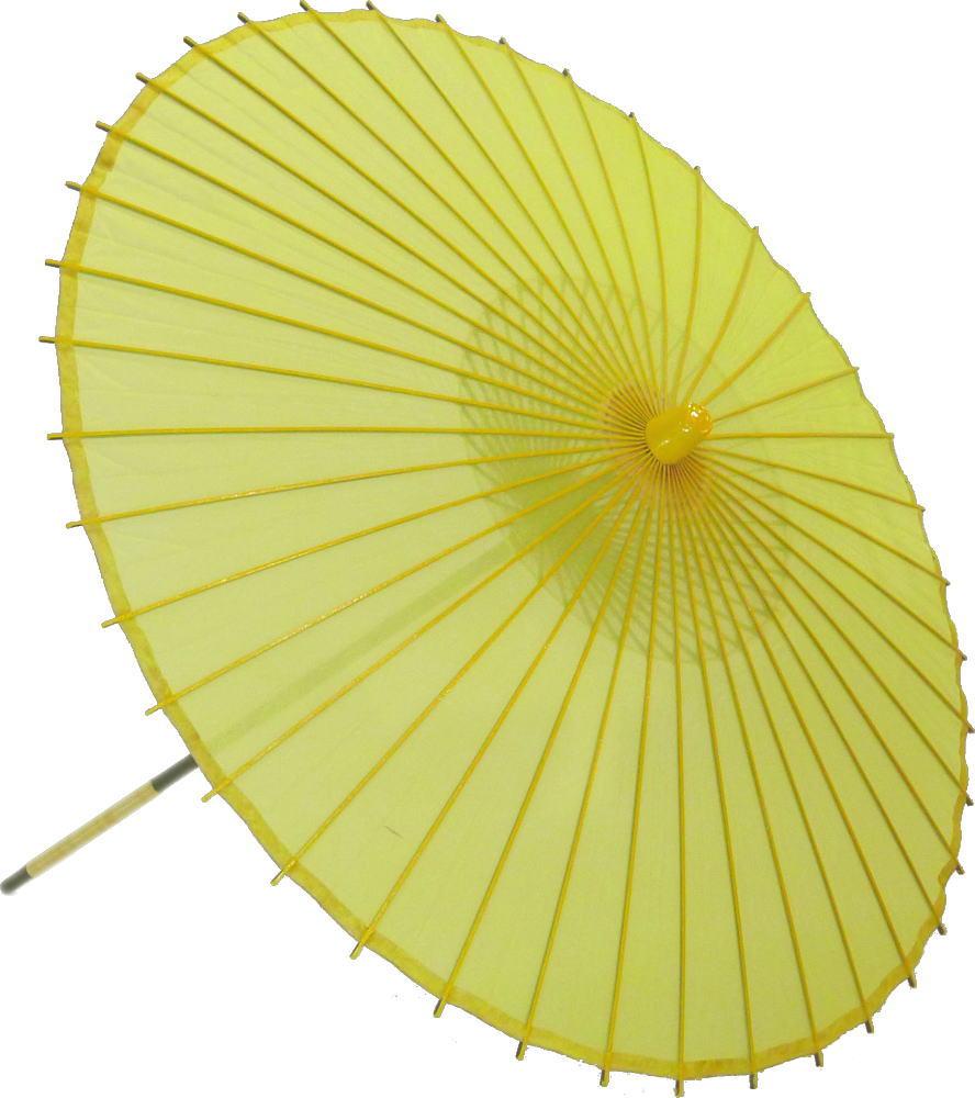 高級絹傘15 黄 国産 装飾・文化祭・大道芸・コスプレの小道具としても最適!【舞台・舞傘・撮影・小道具】