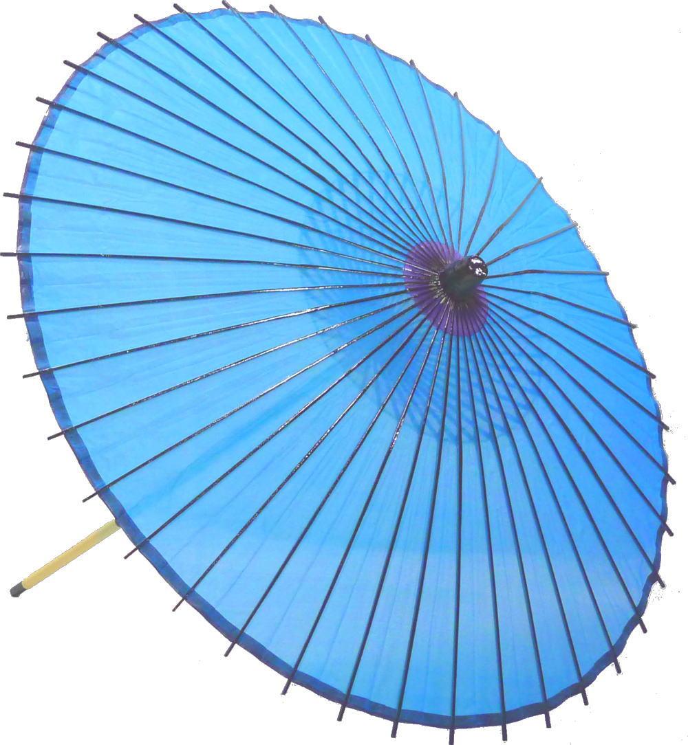 高級絹傘15 水 国産 装飾・文化祭・大道芸・コスプレの小道具としても最適!【舞台・舞傘・撮影・小道具】