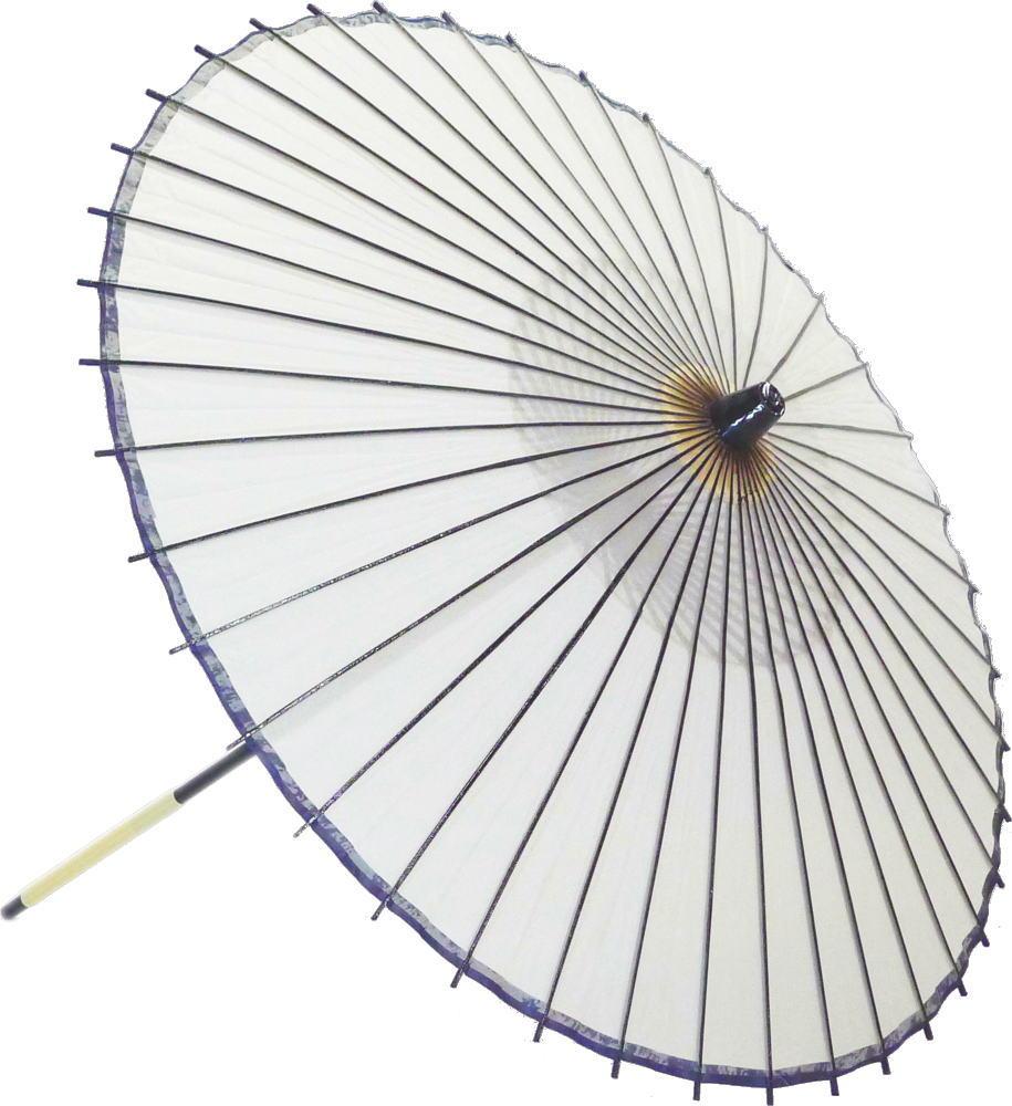 高級絹傘15 白 国産 装飾・文化祭・大道芸・コスプレの小道具としても最適!【舞台・舞傘・撮影・小道具】