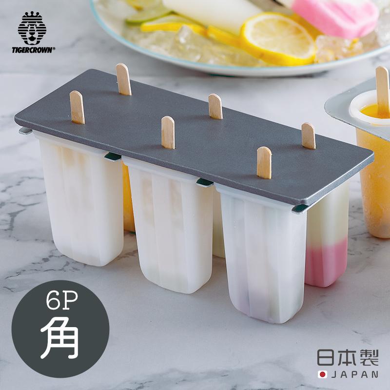 キャンディーメーカー 角 アイス 結婚祝い アイスキャンディー アイスキャンディー型 棒付き レシピ 作り方 日本製 高い素材 製菓道具 お手軽 株式会社タイガークラウン 簡単 223 6P