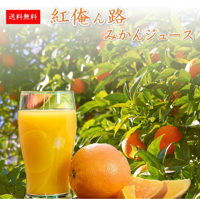 紅俺ん路みかんジュース(100%果汁)12本入り1ケース【送料無料】 ●【楽ギフ_のし】●【楽ギフ_メッセ】