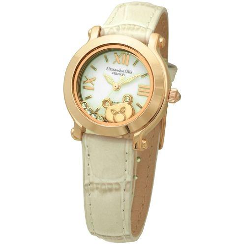 Alessandra Olla/アレサンドラオーラ 腕時計 AO-3100ML くまホワイト【送料・代引き手数料無料】