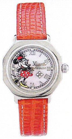 ディズニーウォッチ 限定商品Disney Watch ミニーマウスLimited Edition ベルトカラーレッド100本限定 シリアルNo入り1205-MN【送料・代引き手数料無料】/ディズニー/限定