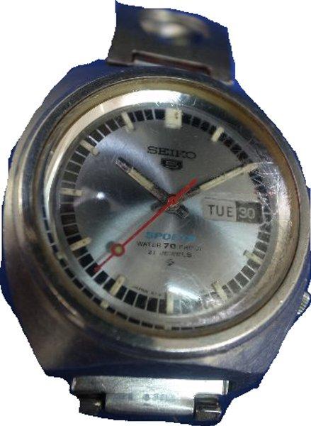 【送料・代引き手数料無料】中古腕時計セイコー 5スポーツ OH済 6119-8130 21石自動巻 昭和53年製 21石【送料・代引き手数料無料】