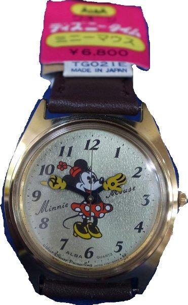 【送料・代引き手数料無料】美品デッドストック腕時計ALBA ディズニータイムクオーツ ミニーマウスタグ付 【送料・代引き手数料無料】
