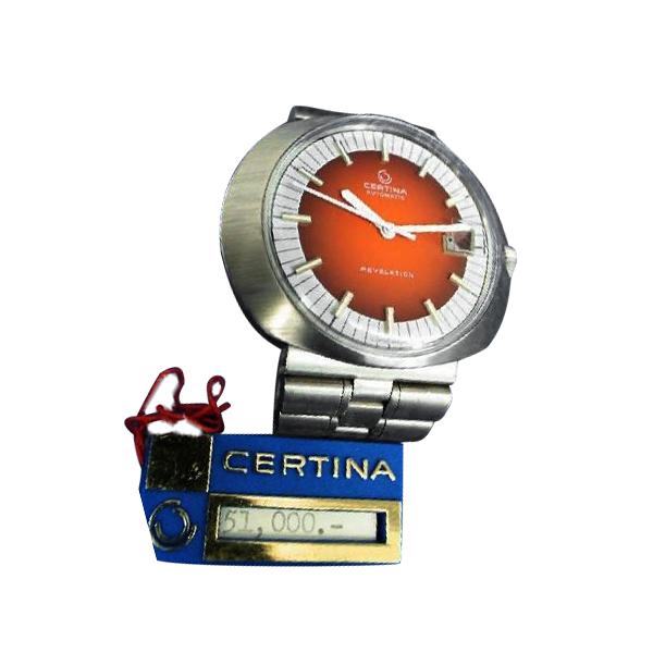 腕時計 サーチナ(CERTINA) リボリューション REVELATION 自動巻 赤文字盤 デツドストック商品 メンズ 5801-185 【送料・代引き手数料無料】
