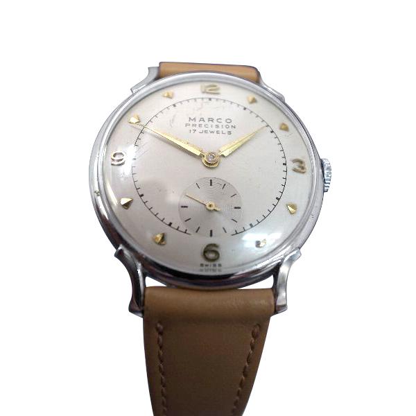 【送料・代引き手数料無料】OH済 腕時計 手巻マルコ(MARCO) SWISS製品 スモールセコンド秒針 【送料・代引き手数料無料】