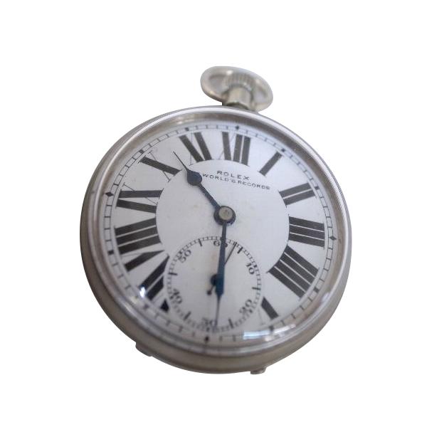 【送料・代引き手数料無料】「USED」懐中時計 ROLEX スモールセコンド7,WORLD S RECORDS2015年11月OH済、手巻 【送料・代引き手数料無料】