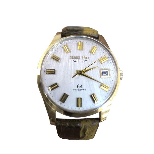 【送料・代引き手数料無料】腕時計 美品デッドストックORIENT GRAND-PRIXオリエント グランドプリックストリオスタット付(微調整装置) 64石OH済 発売は1964年(昭和39年)【送料・代引き手数料無料】