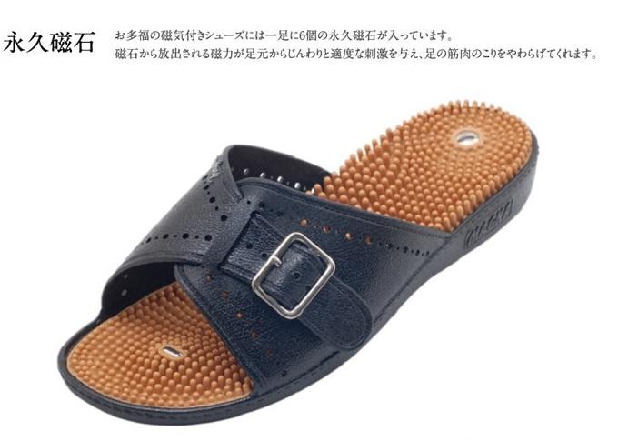 磁気付健康サンダル クーポン 紳士 健康いきいき 日本製 大規模セール お多福産業 サンダル 信託 ゴム製 スリッパ