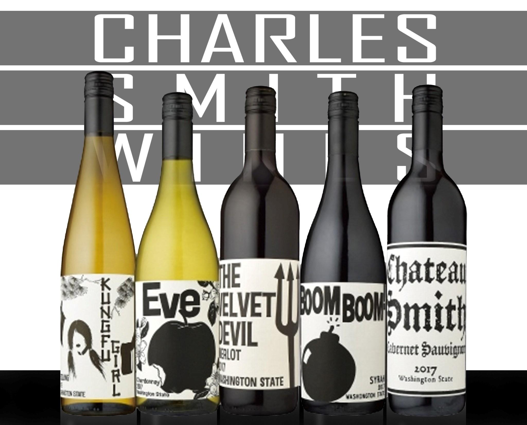 送料無料 B 気質アップ チャールズ スミス ワインズ飲み比べワイン 5本セット※スクリューキャップです 手数料無料