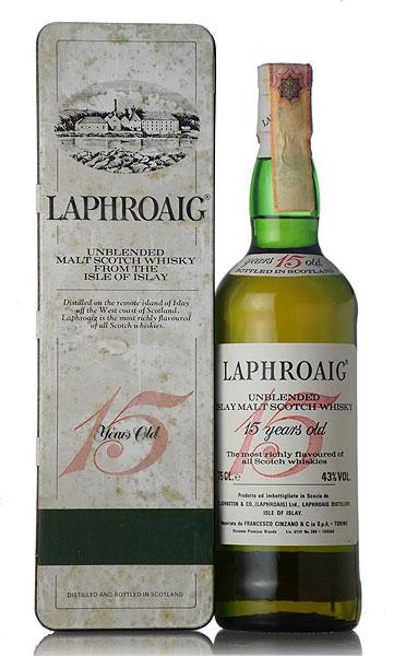 【オールドボトル】ラフロイグ 15年 Cinzano import BIG RED 1980年代流通品