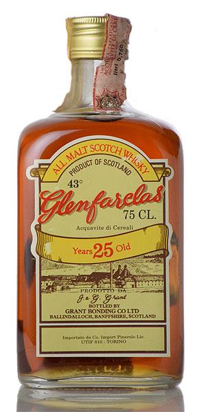 【オールドボトル】 グレンファークラス 25年 ダンピースクエア 1970年代後半流通品【共】