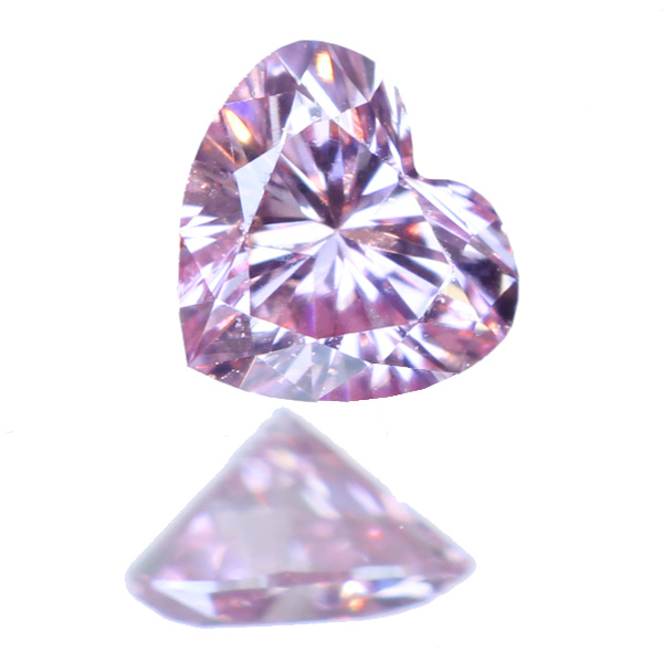 【新着ルース】ピンクダイヤモンド ルース 0.067ct ハートシェイプ ピンクダイヤ ファンシーインテンスピンク