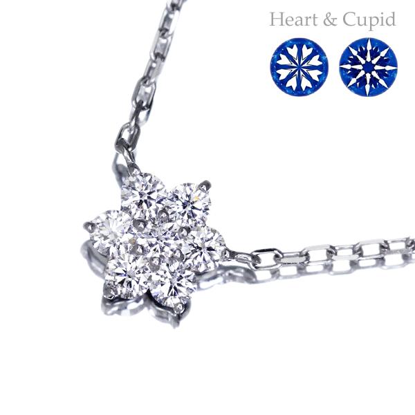 K18WG 0.44ct H&Cダイヤモンド ネックレス